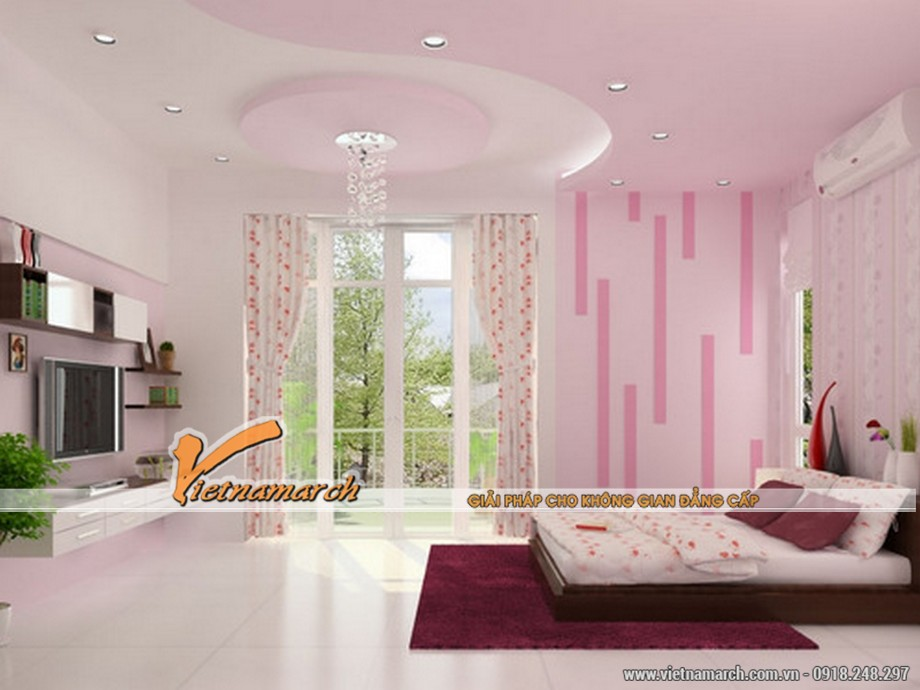 Các mẫu trần thạch cao phòng ngủ đẹp phù hợp với từng độ tuổi-01