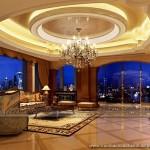 Mẫu thiết kế trần thạch cao phòng khách cổ điển đẹp và sang trọng