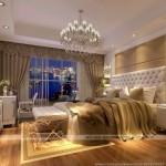 Mẫu thiết kế trần thạch cao phòng ngủ cổ điển đầy quyến rũ