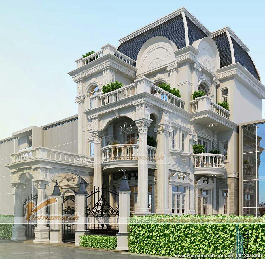 Thiết kế biệt thự Pháp cổ điển 3 tầng tại Lào Cai
