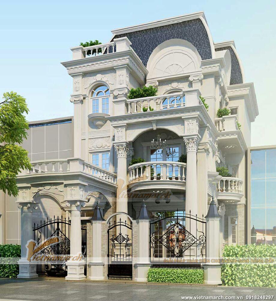 Thiết kế biệt thự cổ điển đẹp 3 tầng tại thành phố Lào Cai