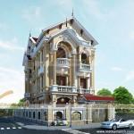 Kiến trúc Pháp trong ngôi biệt thự cổ điển 3 tầng nhà anh Phú – Lạng Sơn