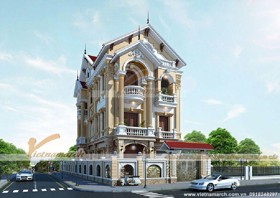 Thiết kế biệt thự 3 tầng cổ điển Quảng Ninh
