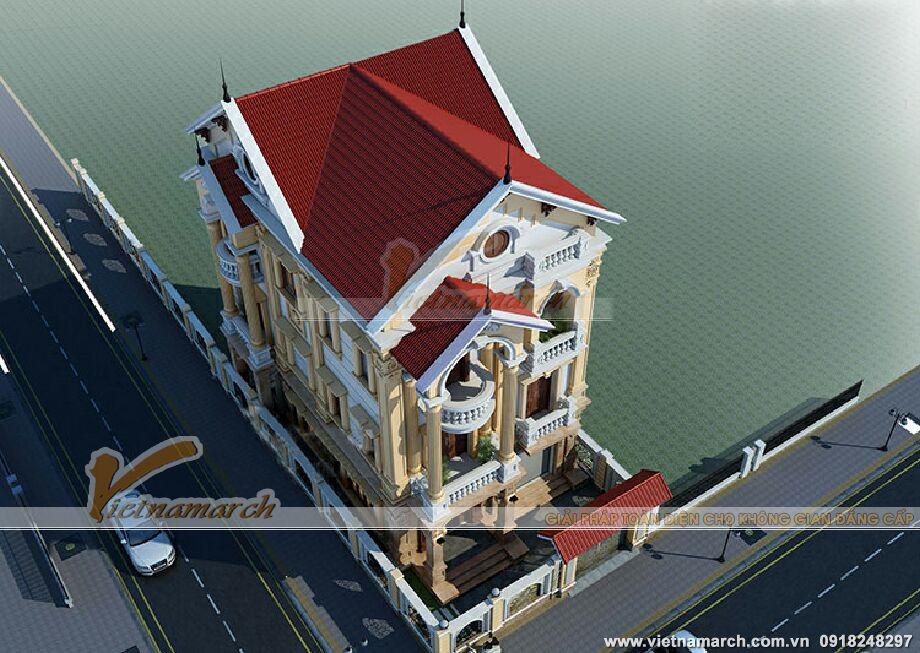 Thiết kế biệt thự cổ điển 3 tầng -Cẩm Phả, Quảng Ninh