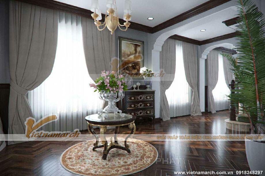 Thiết kế nội thất biệt thự Pháp cổ điển 3 tầng tại Lào Cai