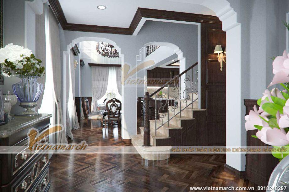 Thiết kế nội thất biệt thự Pháp cổ 3 tầng tại Lào Cai