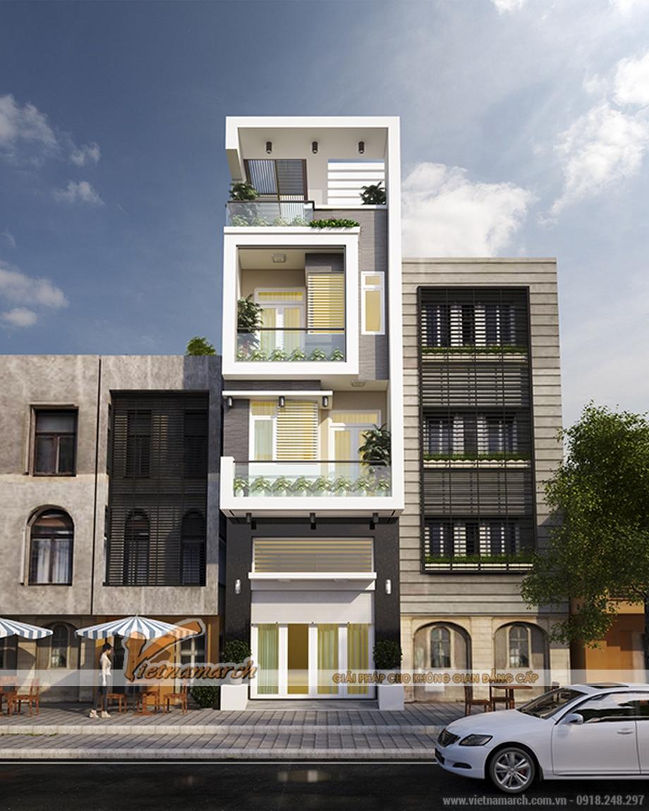 Thiết kế nhà lô phố 4 tầng, phong cách hiện đại