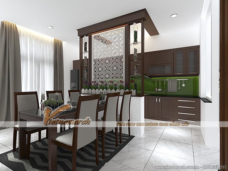 Thiết kế nội thất khu bếp ăn cho nhà lô phố 4 tầng hiện đại