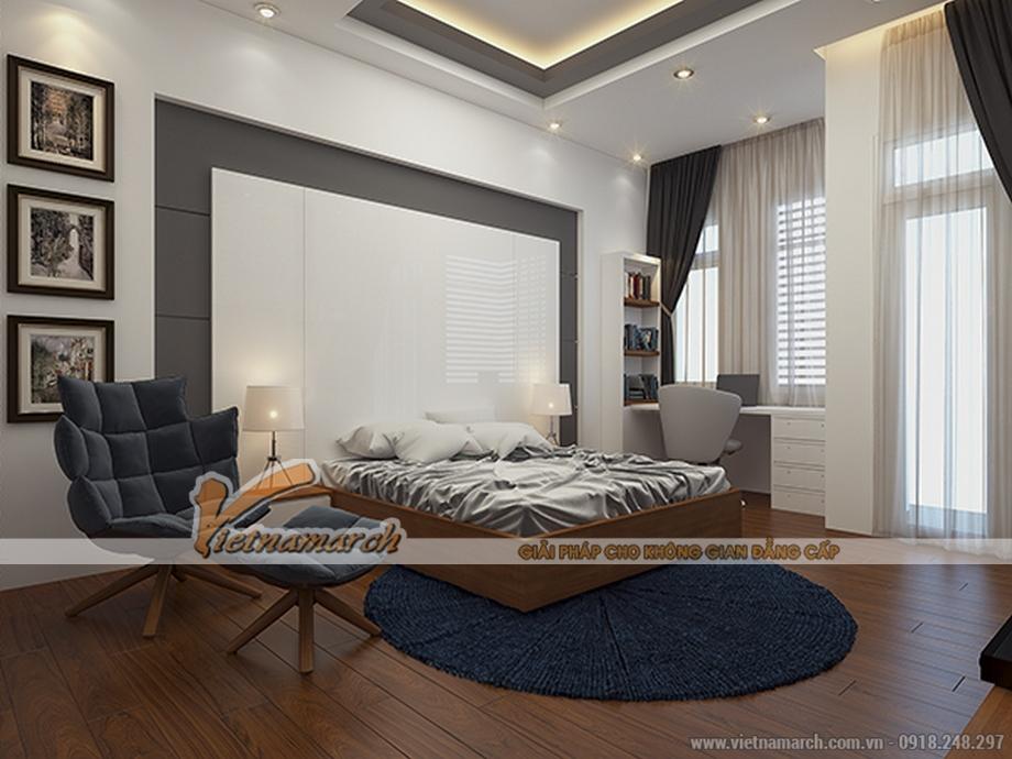 Thiết kế nội thất phòng ngủ cho nhà lô phố 4 tầng hiện đại