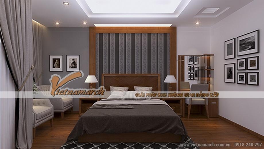 Thiết kế nội thất phòng ngủ cho nhà phố 4 tầng hiện đại