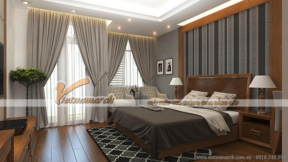 Thiết kế nội thất phòng ngủ cho nhà lô 4 tầng hiện đại