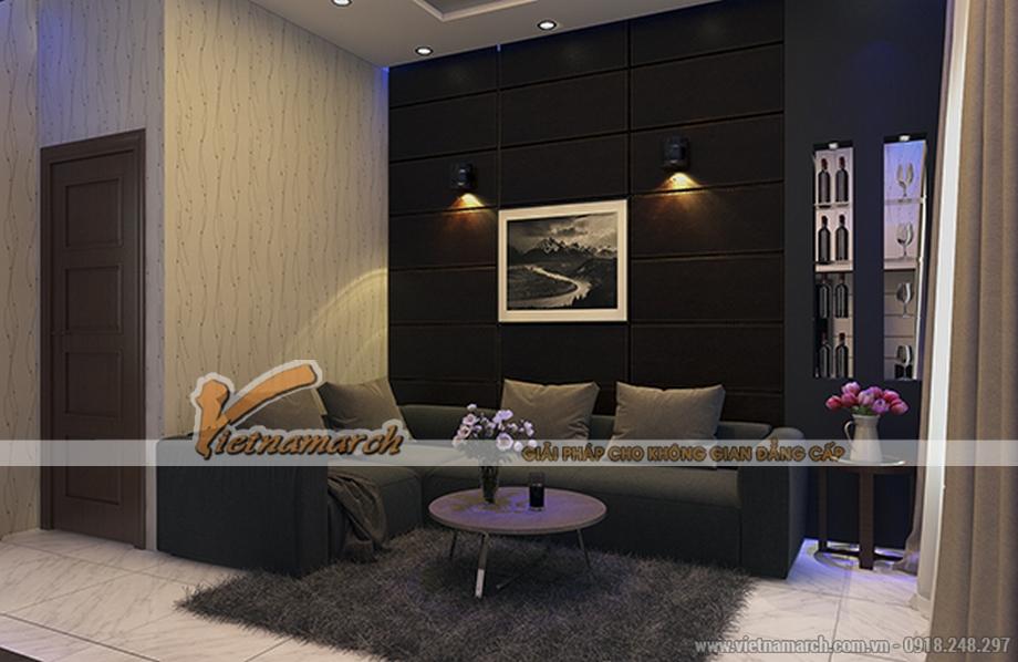 Thiết kế nội thất phòng sinh hoạt chung cho nhà lô phố 4 tầng hiện đại