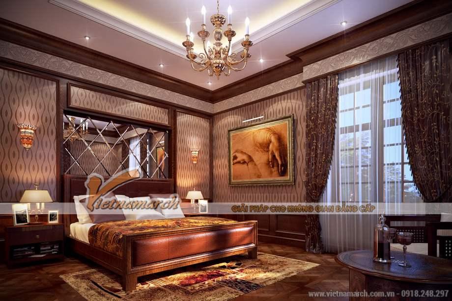 Thiết kế nội thất phòng ngủ biệt thự Pháp cổ điển tại Lào Cai