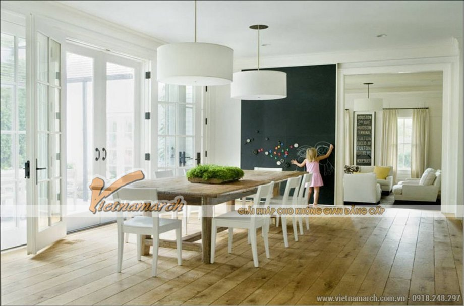 Thiết kế nội thất phòng ăn cho biệt thự 3 tầng phong cách cổ điển