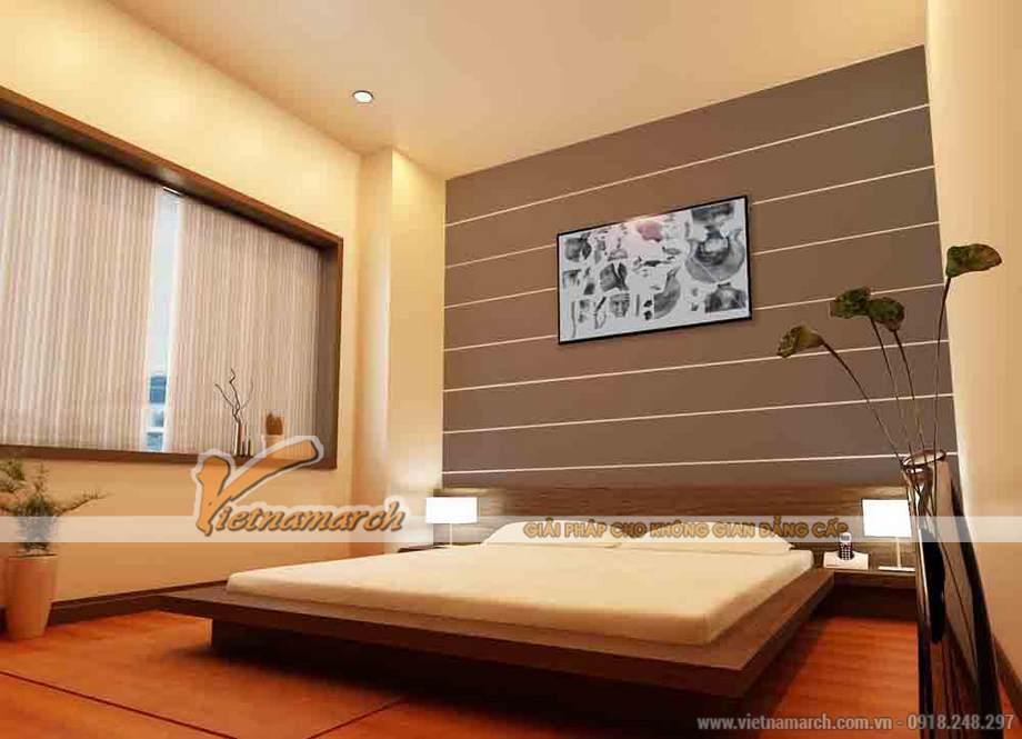 Thiết kế nội thất phòng ngủ nhà lô phố 3 tầng hiện đại tại Nam Định
