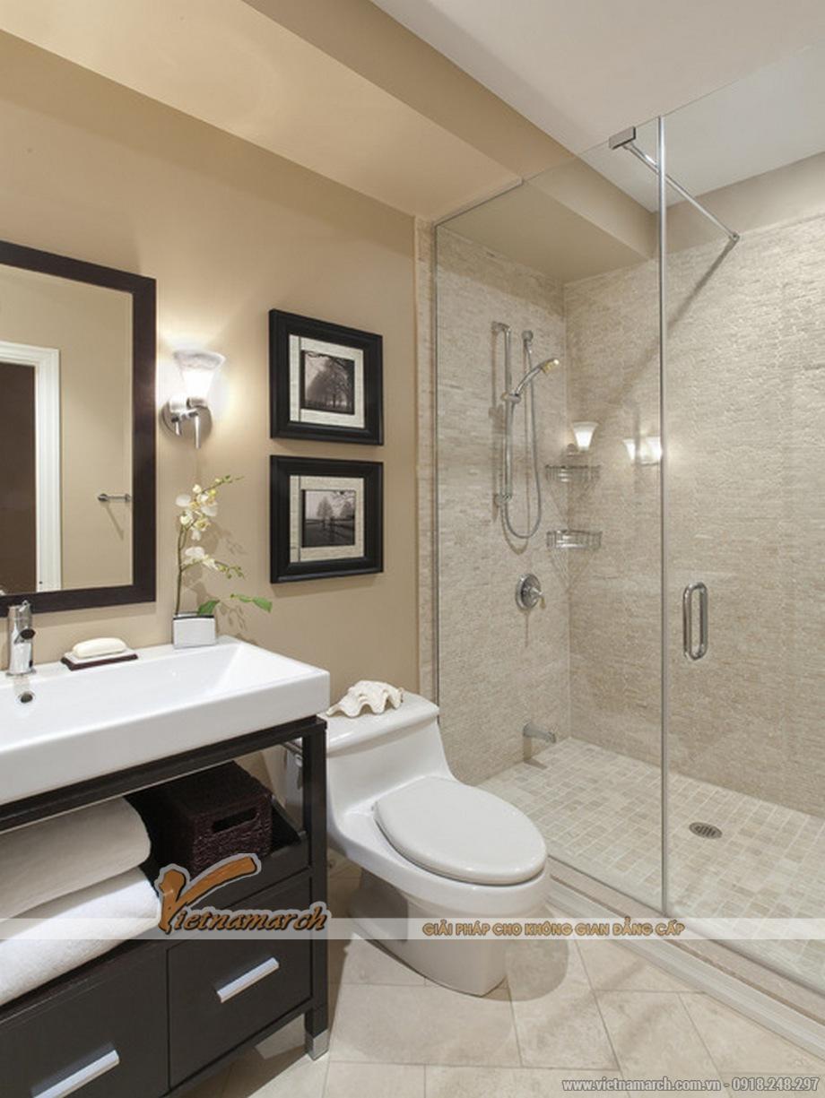 Thiết kế nội thất nhà vệ sinh cho biệt thự tân cổ điển 3 tầng tại Ninh Bình