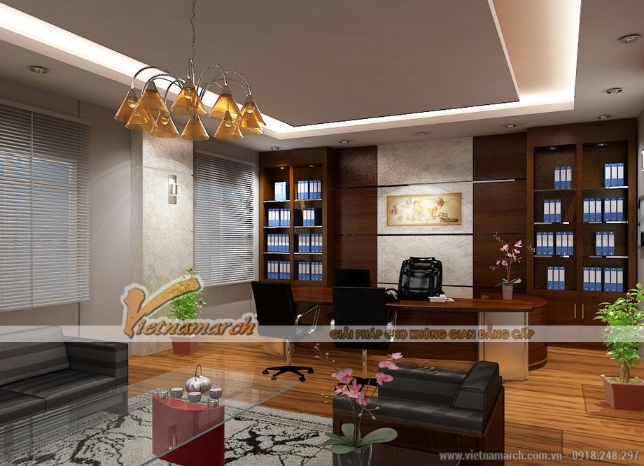 Thiết kế nội thất phòng làm việc cho biệt thự tân cổ điển Ninh Bình