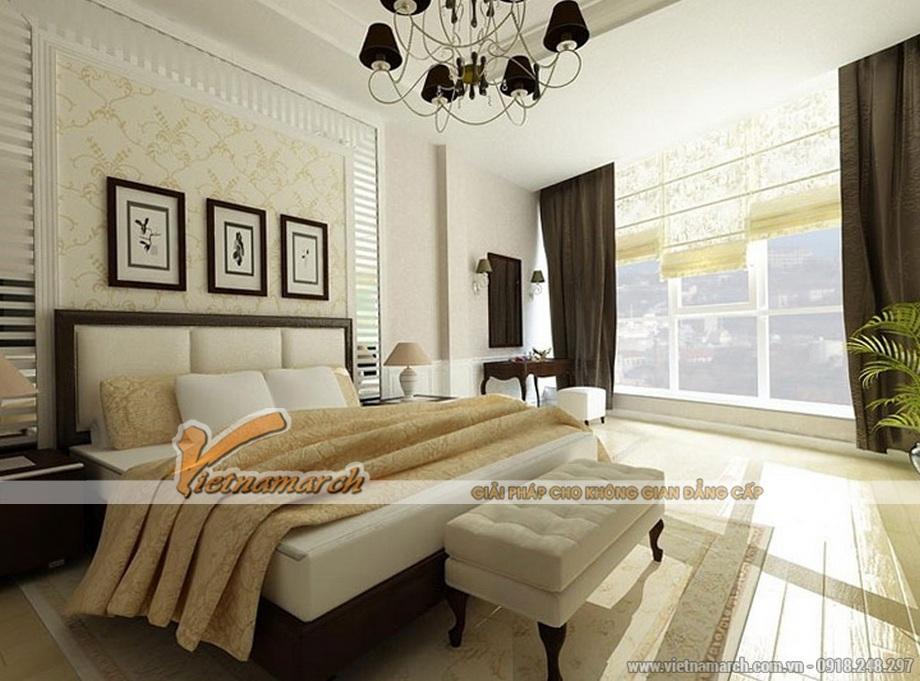 Thiết kế nội thất phòng ngủ cho biệt thự tân cổ điển 3 tầng tại Ninh Bình