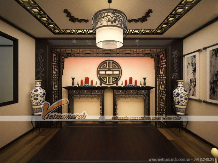 Thiết kế nội thất phòng thờ biệt thự cổ điển 3 tầng tại Ninh Bình