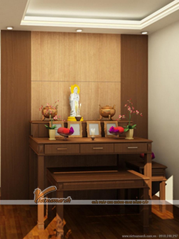 Thiết kế nội thất phòng thờ cho nhà lô phố tân cổ điển tại Nam Định