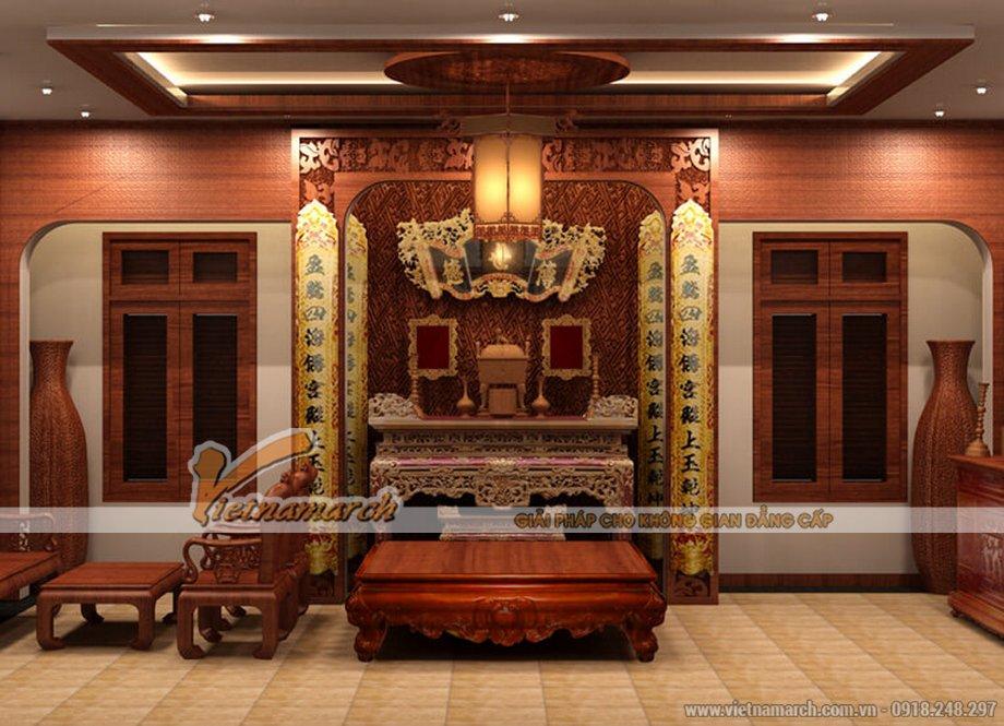 Thiết kế nội thất phòng thờ cho biệt thự tân cổ điển 3 tầng tại Ninh Bình