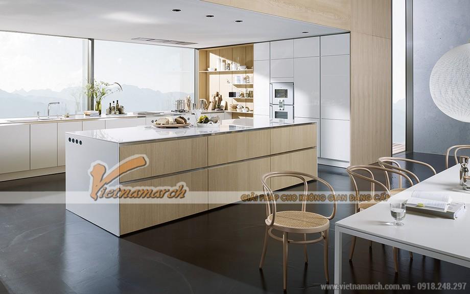 Mẫu tủ bếp SieMatic không tay nắm - S2 + SE cho căn hộ cao cấp