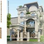 Thiết kế kiến trúc – nội thất biệt thự cổ điển đẹp 3 tầng tại thành phố Lào Cai
