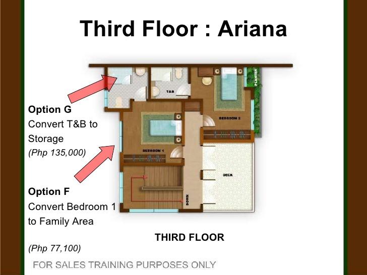Thiết kế tầng 3 của biệt thự 3 tầng