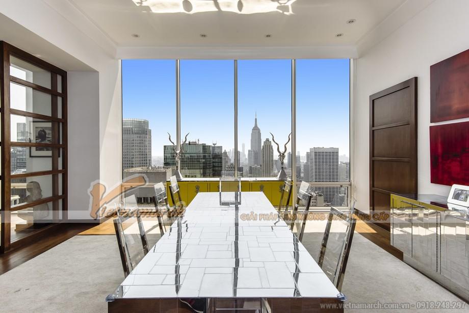 Thiết kế nội thất phòng ăn nhà bếp căn hộ Penthouse
