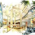 Phương án thiết kế khách sạn nhà hàng Four Wings tại Bankok Thái Lan