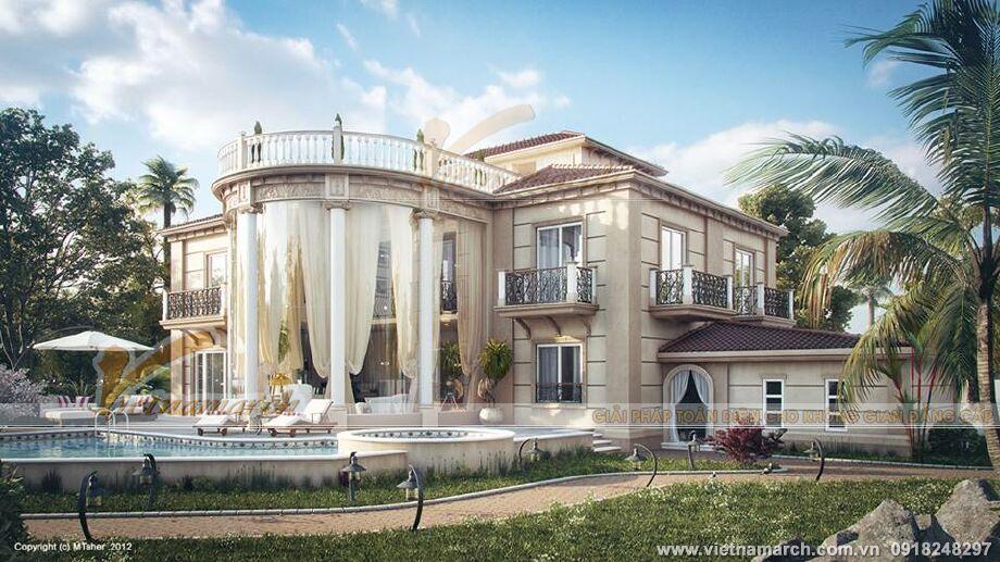 Thiết kế biệt thự nhà vườn cổ điển tại Phú Yên