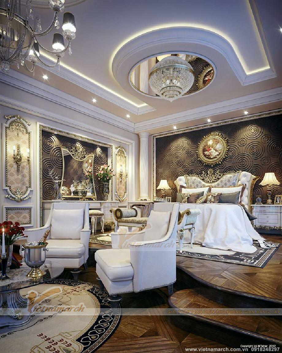 Thiết kế nôi thất phòng ngủ biệt thự nhà vườn sang trọng tại TP Hồ Chí Minh