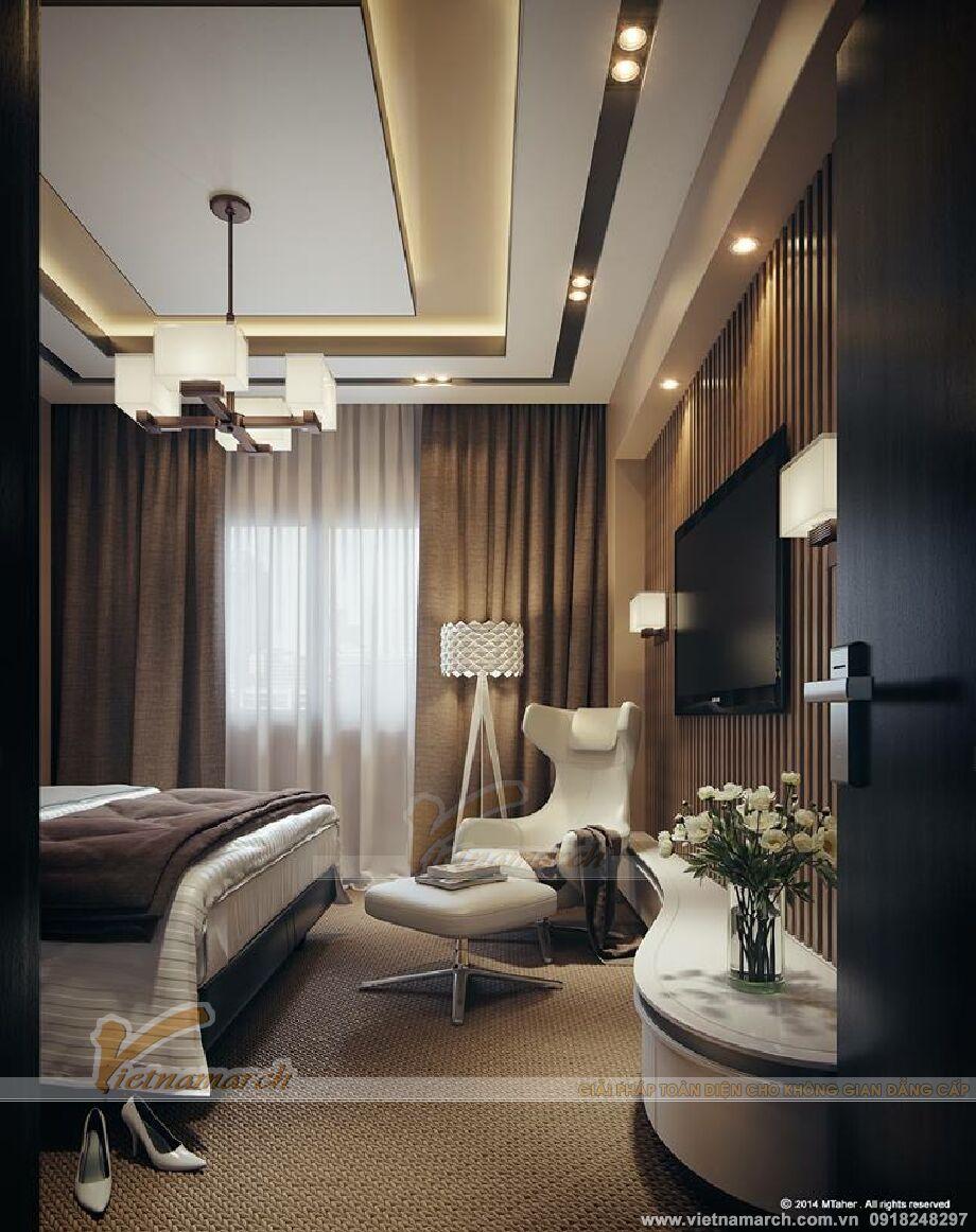 Thiết kế nội thất phòng ngủ biệt thự nhà vườn đẹp tại Yên Bái