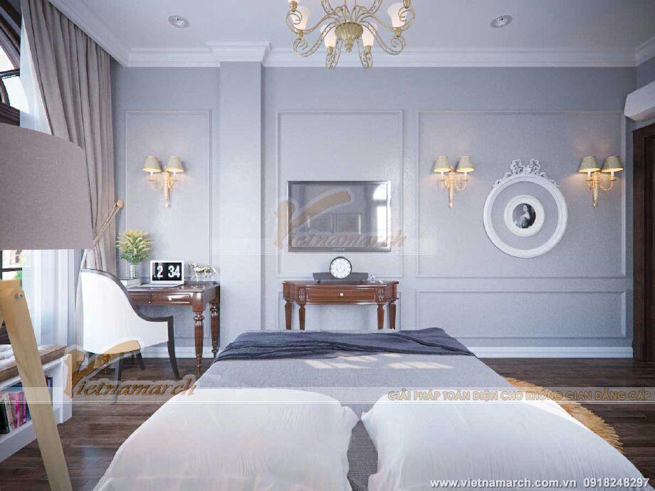 Thiết kế nội thất phòng ngủ biệt thự cổ điển 3 tầng tại Ninh Bình