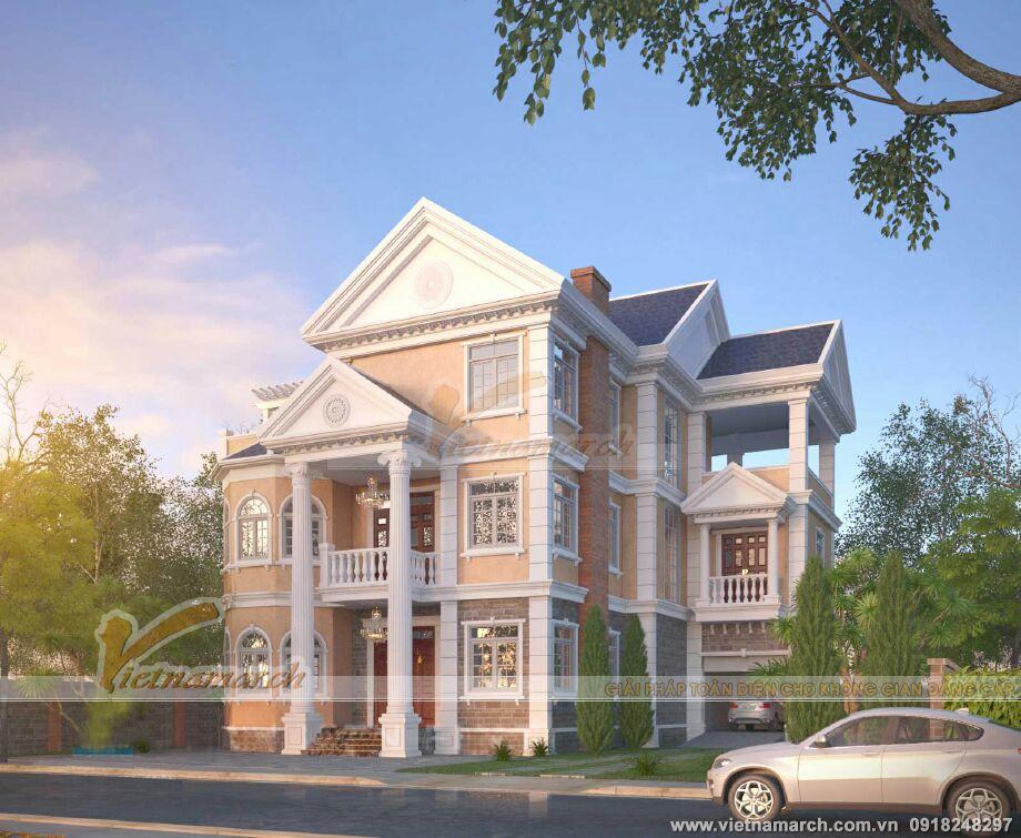 Mẫu biệt thự kiến trúc Pháp của nhà anh Quỳnh - Ninh Bình