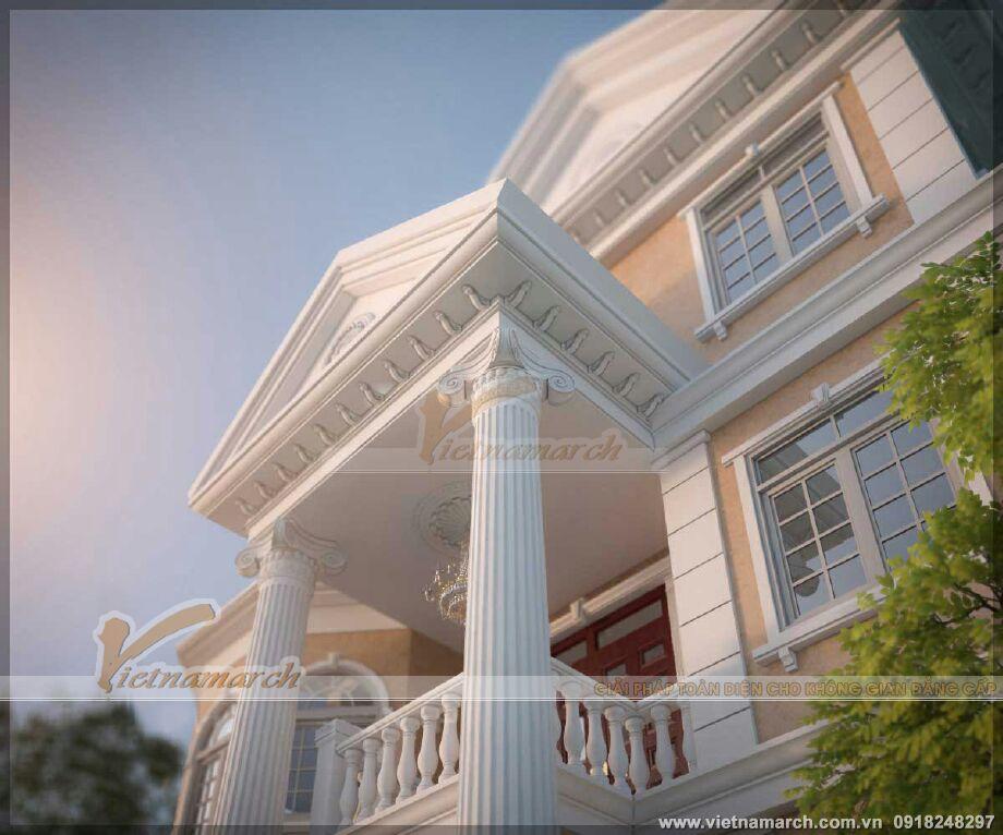 Thiết kế biệt thự cổ điển 3 tầng tại Ninh Bình