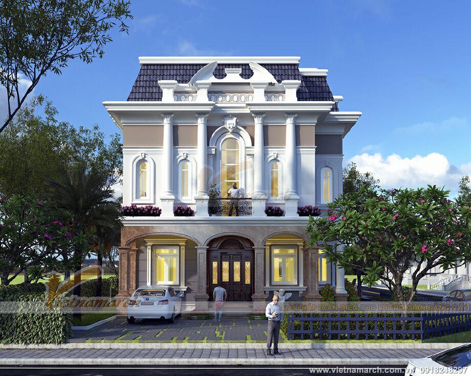 Thiết kế biệt thự tân cổ điển 2 tầng tại Ninh Bình