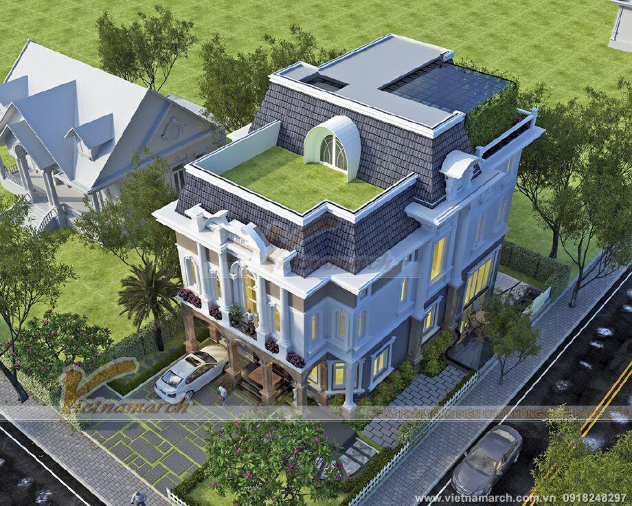 Thiết kế biệt thự tân cổ điển 3 tầng tại Ninh Bình