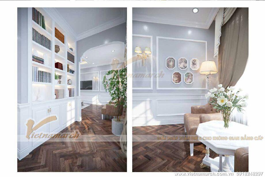Thiết kế nội thất phòng làm việc cho biệt thự cổ điển 3 tầng tại Ninh Bình