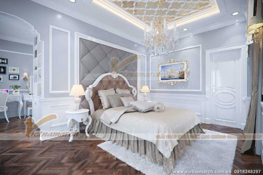 Thiết kế nội thất phòng ngủ master cho biệt thự cổ điển 3 tầng tại Ninh Bình