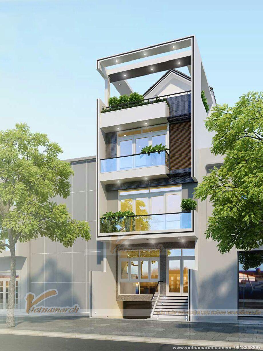 Thiết kế nhà lô hiện đại 4 tầng tại Hải Phòng