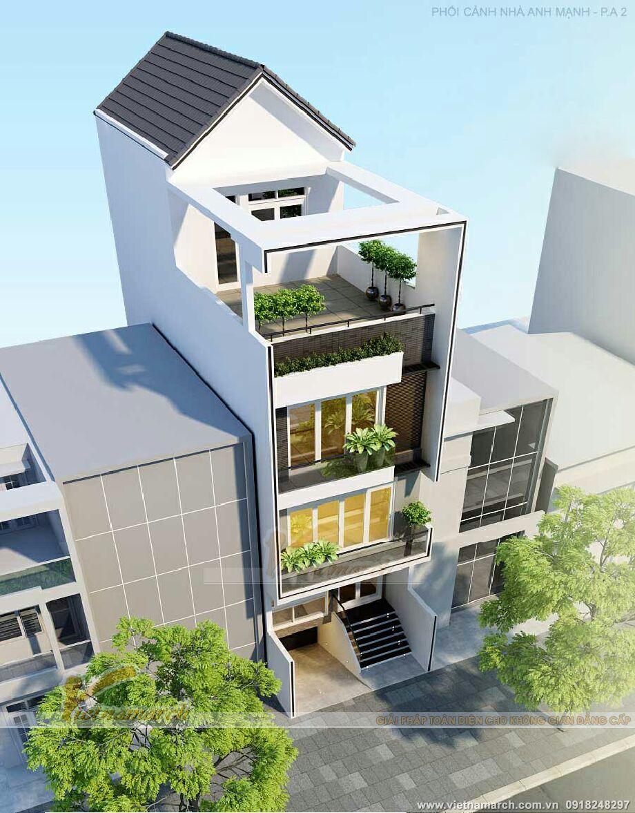 Thiết kế nhà lô phố hiện đại 4 tầng tại Hải Phòng