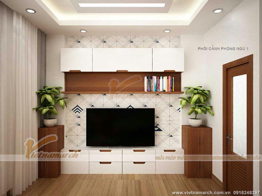 Thiết kế nội thất phòng ngủ master cho nhà lô phố hiện đại 4 tầng tại Hải Phòng