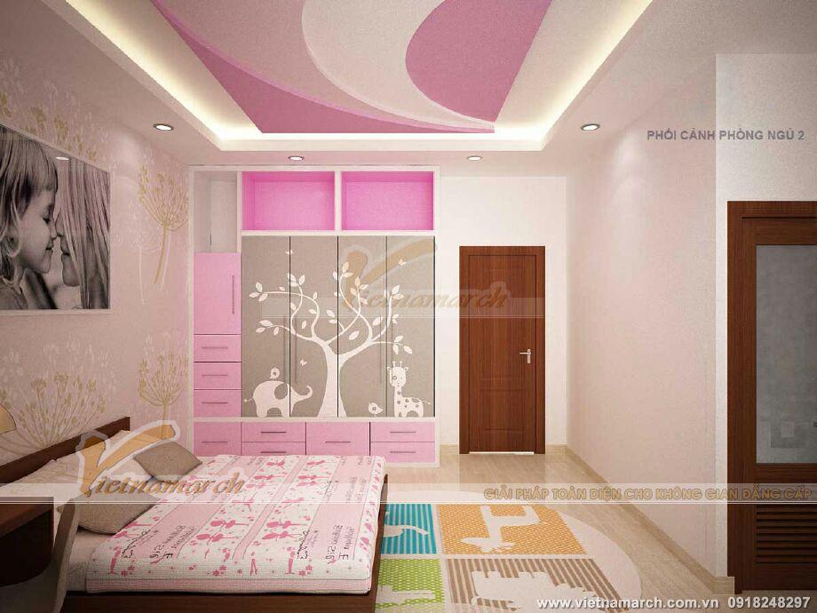 Thiết kế nội thất phòng ngủ cho nhà lô phố hiện đại 4 tầng tại Hải Phòng