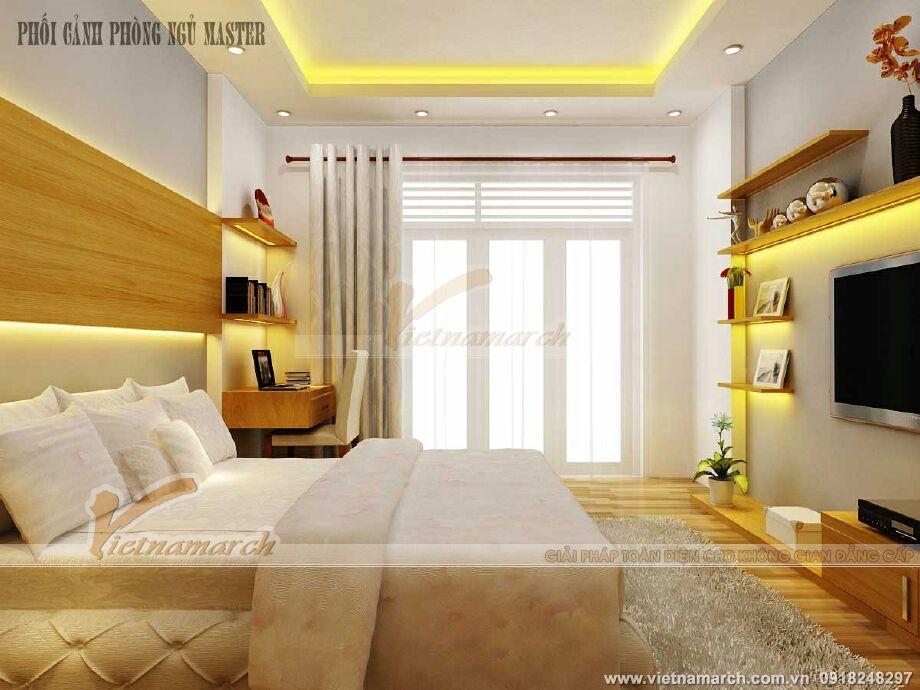 Thiết kế nội thất phòng ngủ master cho nhà lô phố tân cổ điển tại Nam Định