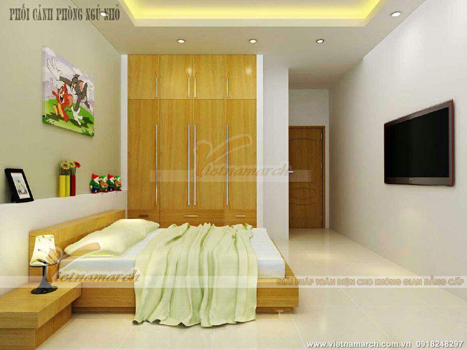 Thiết kế nội thất phòng ngủ cho nhà lô phố tân cổ điển tại Nam Định