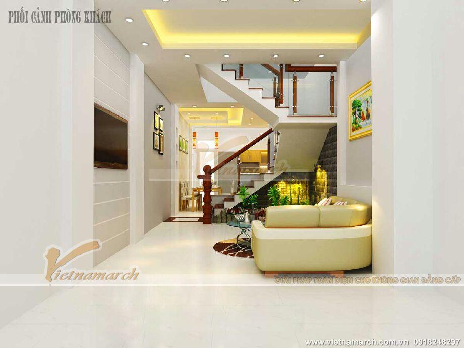 Thiết kế nội thất phòng khách cho nhà lô phố tân cổ điển tại Nam Định