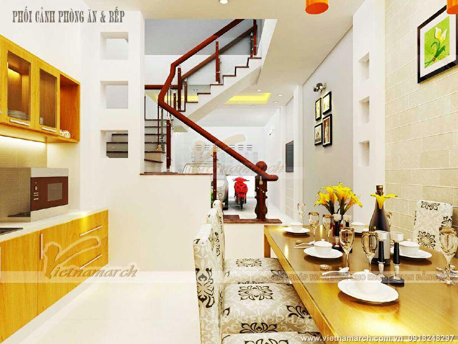 Thiết kế nội thất phòng ăn & bếp cho nhà lô phố tân cổ điển tại Nam Định