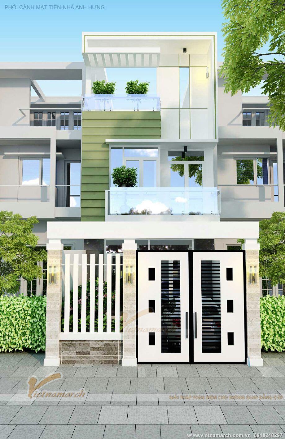 Thiết kế nhà lô phố 3 tầng hiện đại tại Nam Định