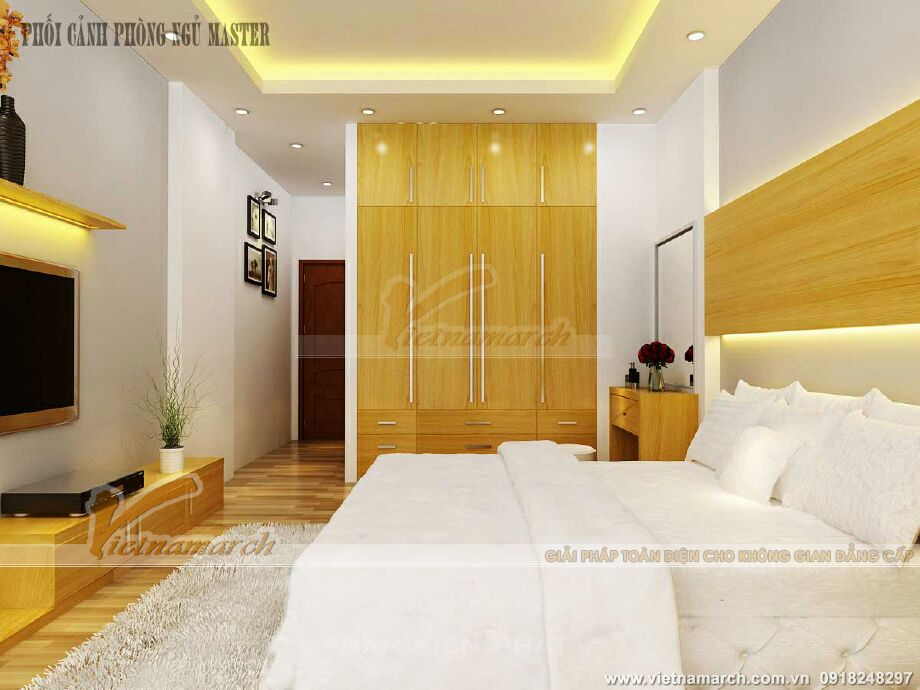 Thiết kế nội thất phòng ngủ master cho nhà lô phố tại Nam Định